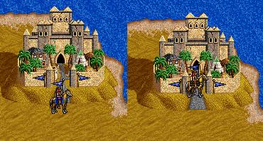 Расположение героев в редакторе карт Героев Меча и Магии 2