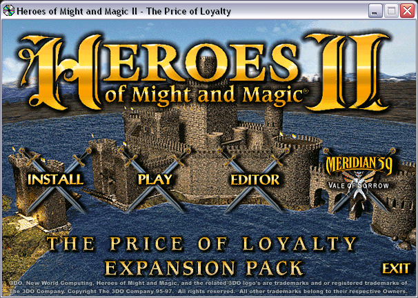 Heroes of Might and Magic II: The Price of Loyalty Expansion Pack