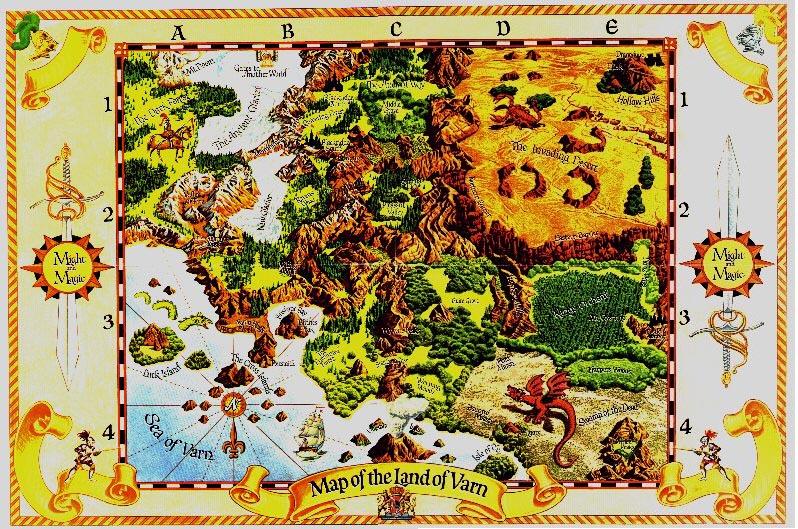 Карта мира Might & Magic: Secret of the Inner Sanctum