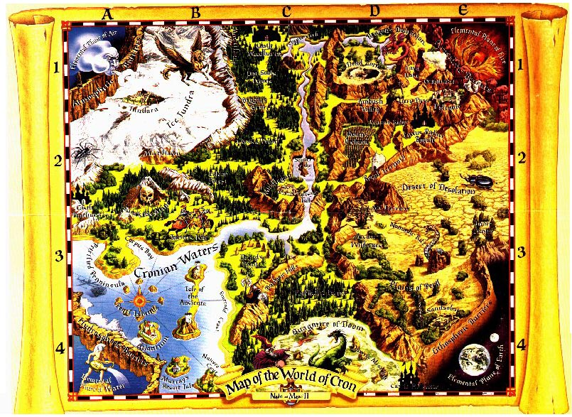 Карта мира Might & Magic II: Gates to Another World