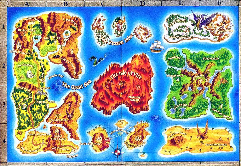 Карта мира Might and Magic III: Isles of Terra